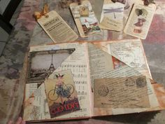 Paperback Writer: The Art of Journals -  This is what I would like to do for the Storybooks, have little pockets holding bits and extras like 'Ivy's Town Charter', with an Ivy Village map foldout -  Have the storybook hinged and have a little key... the key to Ivy.  Wouldn't that be extra cool!!
