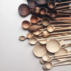 wooden spoons are a simple and easy way to bring in natural home decor. Brown Aesthetic, Aesthetic Coffee, Wooden Spoons, Wooden Lamp, Wooden Bowls, Color Stories, Color Inspiration, Color Schemes, Pantone