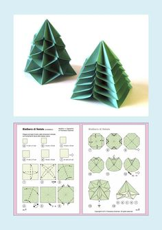 Designed and fold… – Origami 2020 Origami Christmas Ornament, Christmas Paper, Christmas Projects, Christmas Tree Ornaments, Paper Crafts Origami, Origami Easy, Origami Tree, Origami Envelope, Origami Decoration