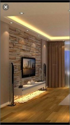 Living Room Interior, Home Living Room, Home Interior Design, Living Room Designs, Tv Wall Ideas Living Room, Kitchen Living, Interior Ideas, Exterior Design, Living Spaces