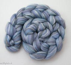 Blue Spinning Fiber Merino Shetland