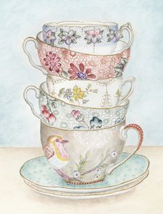 High Tea Karen Backus  Framed or unframed print