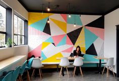 11 Portland Coffee Shops, What a recent caffeine-binge told me about the state of American coffee shops. Room Wall Painting, Mural Wall Art, Room Paint, Murals, Bedroom Wall, Bedroom Decor, Wall Design, House Design, Cafe Wall