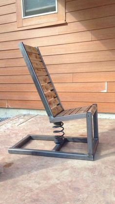 Photo for woodwork. outdoor diy projects - wood workin diy - Photo for woodwork. 25 outdoor diy projects Best Picture For woodworking tips For Yo - Steel Furniture, Industrial Furniture, Cool Furniture, Outdoor Furniture, Furniture Plans, Furniture Design, Welded Furniture, Garden Furniture, Steampunk Furniture