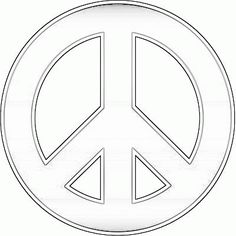 peace sign coloring sheets for kids | Peace Sign Coloring Pages For Kids. Print and Color the Pictures