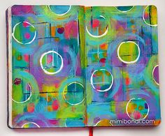 Free art journal tutorial ''Round and Round''| Mimi Bondi