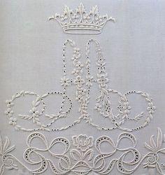 linen embroidered monogram