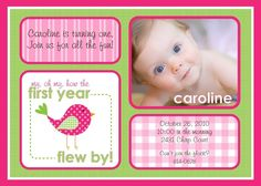 SWEET TWEET BIRDIE Birthday Party - Pink and Green - Printable Customized Invitation for $18.00 at etsy.com