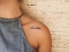 Shoulder Tattoos for Women; Music symbol tattoo Decoration Craft Gallery Ideas] Related posts:Best Small Tattoo Placement Ideas For Women Simple Quote Tattoos, Simple Bird Tattoo, Tattoo Bird, Tattoo Moon, No Fear Tattoo, Small Writing Tattoos, Live Tattoo, Be Brave Tattoo, Simple Quotes