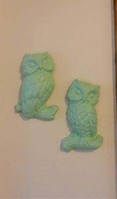 Vintage OWL Wall Hangings by kidblue on Etsy $20