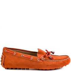 Polish off your look with the Anais by Ivanka Trump. A bright orange suede blankets the upper and is accented by white stitching. This loafer is perfect for everyday wear and features a patent bow detail at the vamp. Orange Heels, White Heels, Ugly Shoes, Ivanka Trump, Boat Shoes, Me Too Shoes, Shoe Boots, Loafers, Pumps