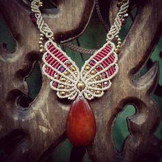 Necklace with carnelian - Колье с сердоликом - Svitoe