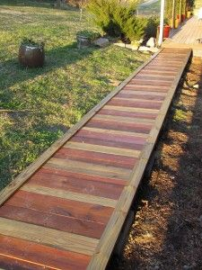 The Homestead Survival | How To Build A Wooden Garden Walkway | http://thehomesteadsurvival.com