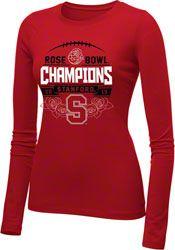 Stanford Cardinal Women's 2013 Rose Bowl Champions Long Sleeve T-Shirt $19.99 http://www.fansedge.com/Stanford-Cardinal-Womens-Bowl-Champion-Long-Sleeve-T-Shirt-_813493198_PD.html?social=pinterest_pfid42-68953
