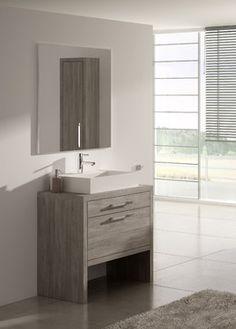 "Sky Frame-less Mirror, 24"" - modern - Bathroom Mirrors - Macral Design Corp"