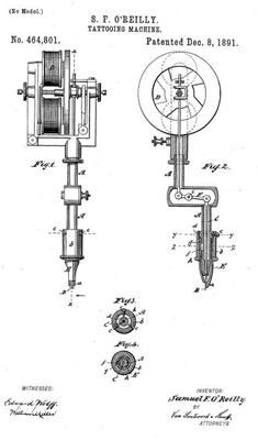 tattoo machine patent - Google Search