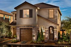 The beautiful exterior of the Tribeca model.  Located at The Heights on Copper.  Fresno, CA.
