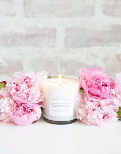 Peony Soy Blend Prosperity Candle for The Little Market