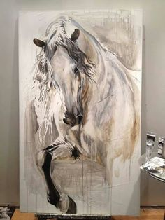 Horse art. No idea who painted this but I think it's absolutely gorgeous.                                                                                                                                                                                 More