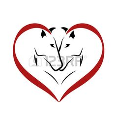 Wektor koni ikony miłości photo