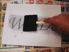 How to transfer letters to wood for the signs