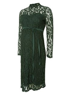 Beautiful green Mamalicious dress with turtle neck. Perfect colour to wear this season.