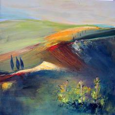 """Silvia Sailer, """"Südsteirische Impressionen I"""" Mit einem Klick auf """"Als Kunstkarte versenden"""" versenden Sie kostenlos dieses Werk Ihren Freunden und Bekannten."""