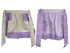 Handmade Vintage Ladies Kitchen Aprons Set of 2 (lavender lilac) June Cleaver  #Handmade