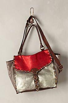 86e3e114443d Studded Metallic Shoulder Bag  anthropologie Classy And Fabulous