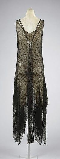 Patou Dress - 1920's - (possibly) House of Patou (French, founded 1919) - Attributed to Lucien Lelong (French, 1889-1958) - Cotton, rhinestones