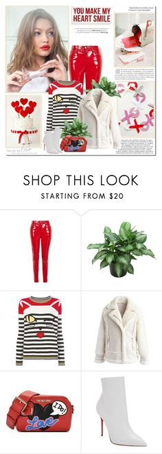 """""""You make may heart smile!!"""" by lilly-2711 ❤ liked on Polyvore featuring Primitives By Kathy, Ermanno Scervino, Chicwish, Love Moschino and Christian Louboutin"""