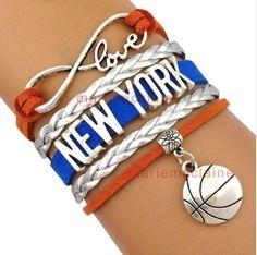 New York Knicks Bracelet, New York Knicks Jewelry, Basketball Bracelet, NBA Bracelet & Perfect Basketball Fan Gift Infinity Collection http://www.amazon.com/dp/B019QUAVKI/ref=cm_sw_r_pi_dp_IW7Hwb0AYV4M0