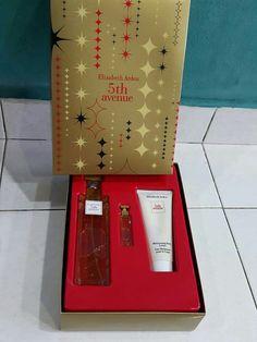 NEW STOCK ELIZABETH ARDEN GIFT SET  SET 5TH AVENUE ELIZABETH ARDEN perfume 125ml + 3.7ml miniature + 100ml lotion RM220  Pm: https://m.facebook.com/messages/thread/1545978505636318  Wechat: akeyo88 wassup: +60195073938 ☆pliz feel free to untag...☆