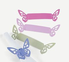 Tutorial para hacer servilleteros con forma de mariposa.