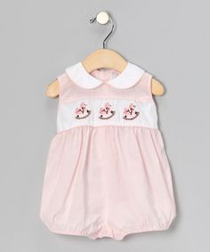 Take a look at this Pink Rocking Horse Romper - Infant by Fantaisie Kids on #zulily today!