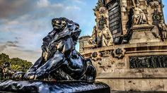 Löwe, Denkmal, Barcelona, Spanien, Catalunya, Katze