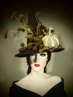 Couture Witch Hat Autumn Sleep 21 One of a by EvercrumblyAndWitch, $89.00