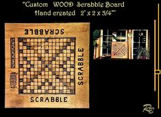 Wood Scrabble board, custom scrabble board, personalized, hand created, hand made, wood burned Couple Gifts, Gifts For Wife, Gifts For Family, Father Son Gifts, Father And Son, Mother Gifts, Wood Anniversary Gift, Anniversary Gifts For Couples, Disney Jewelry