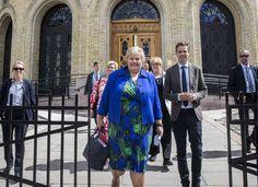 POPULÆR STATSLEDER: Statsminister Erna Solberg (H) går inn i sin andre periode som statsminister i Norge, med folket i ryggen. Her sammen med KrF-leder Knut Arild Hareide, Venstre-leder Trine Skei Grande og finansminister Siv Jensen (Frp).