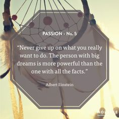 Keep your dreams big. #passion