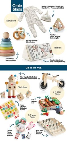 Find the perfect present for the perfect age with ease by shopping gifts by age. This easy-to-shop collection lets you find just what you need in no time flat. Bedroom Vintage, Baby Tummy Time, My Bebe, Plan Toys, Baby Necessities, Developmental Toys, Small Baby, Baby Registry, Baby Fever