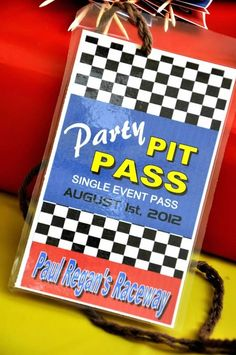 Motorcross Party - Pit pass for guests - custom party printables by The Pink Peach party stylist