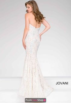 Sweetheart Neckline Lace Jovani Dress 37334