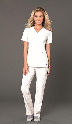 NEW! Try out ROCK GODDESS in WHITE #smitten #scrubs #medical #fashion #uniforms #health #healthcare #doctor #nurse #nursing #school #student #dental #hygiene #vet #tech #style #spring #new #rock #goddess #tunic #white