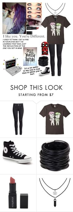 """Untitled #571"" by emmcg915 ❤ liked on Polyvore featuring H&M, Converse, Saachi and Smashbox"