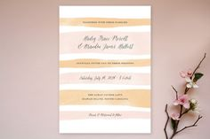 Sorbet Stripes Wedding Invitations by Jennifer Wick at minted.com