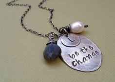 Personalized Silver Necklace Inspirational by JewelryByDawnya, $39.00