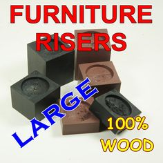 LARGE Wood Furniture Riser, Bed Sofa Chair Desk Lifter, Custom Sizes And  Colors,