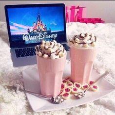 Strawberry milkshakes, cookies, Christmas, and Disney movies