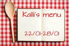 Νέα εβδομάδα, νέες συνταγές, νέο μενού! Απλά υγιεινά και εύκολα πιάτα για όλη την οικογένεια. Για να κάνουμε απλά την καθημερινότητά μας καλύτερη!!! http://www.kallisblog.gr/2018/01/2201-2801.html
